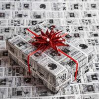 Kép 1/3 - HARRY POTTER - Reggeli Próféta mintás csomagolópapír (MinaLima design) BubbleStore