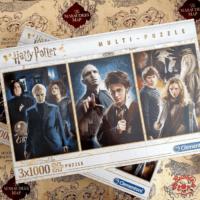 Kép 1/5 - Clementoni - Harry Potter multi-puzzle - 3 x 1000 darab BubbleStore