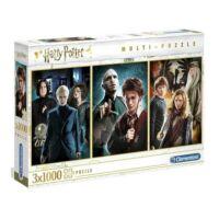 Kép 2/5 - Clementoni - Harry Potter multi-puzzle - 3 x 1000 darab BubbleStore