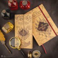 Kép 1/4 - Harry Potter - Jegyzetfüzet kivehető Tekergők Térképével BubbleStore