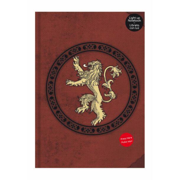 Trónok harca - Lannister világító noteszkönyv