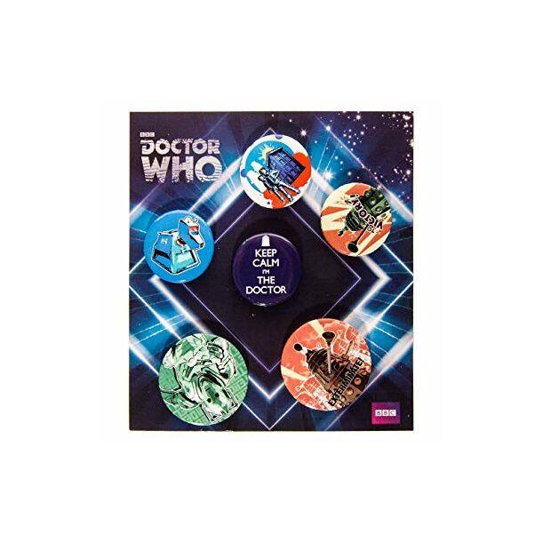 Doctor Who retro kitűző szett