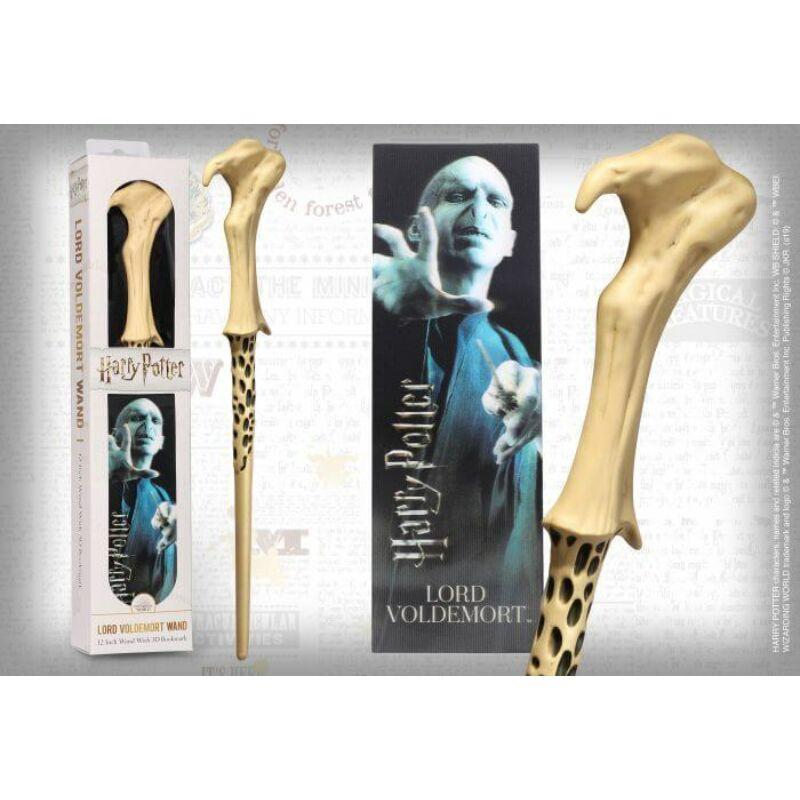 HARRY POTTER - Lord Voldemort varázspálca + 3D könyvjelző