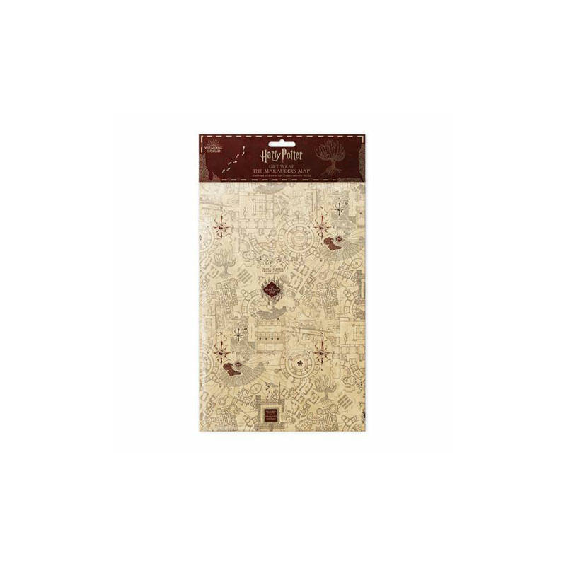 HARRY POTTER - Tekergők térképe mintás csomagolópapír (MinaLima design) BubbleStore