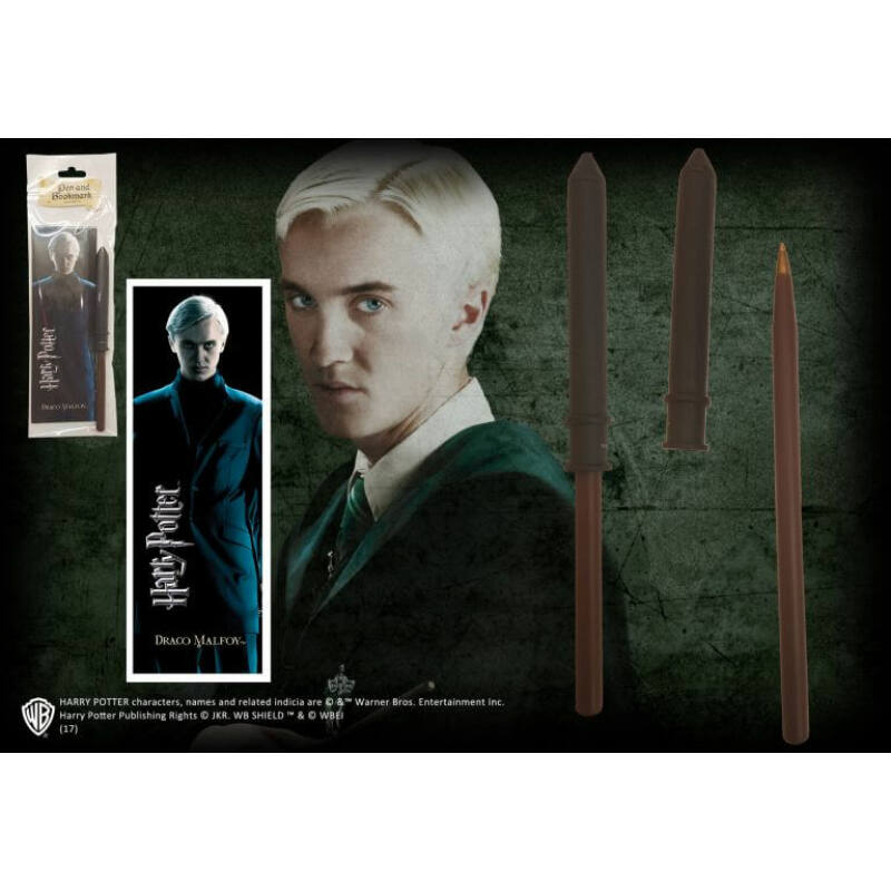 HARRY POTTER - Draco Malfoy varázspálca toll és könyvjelző BubbleStore