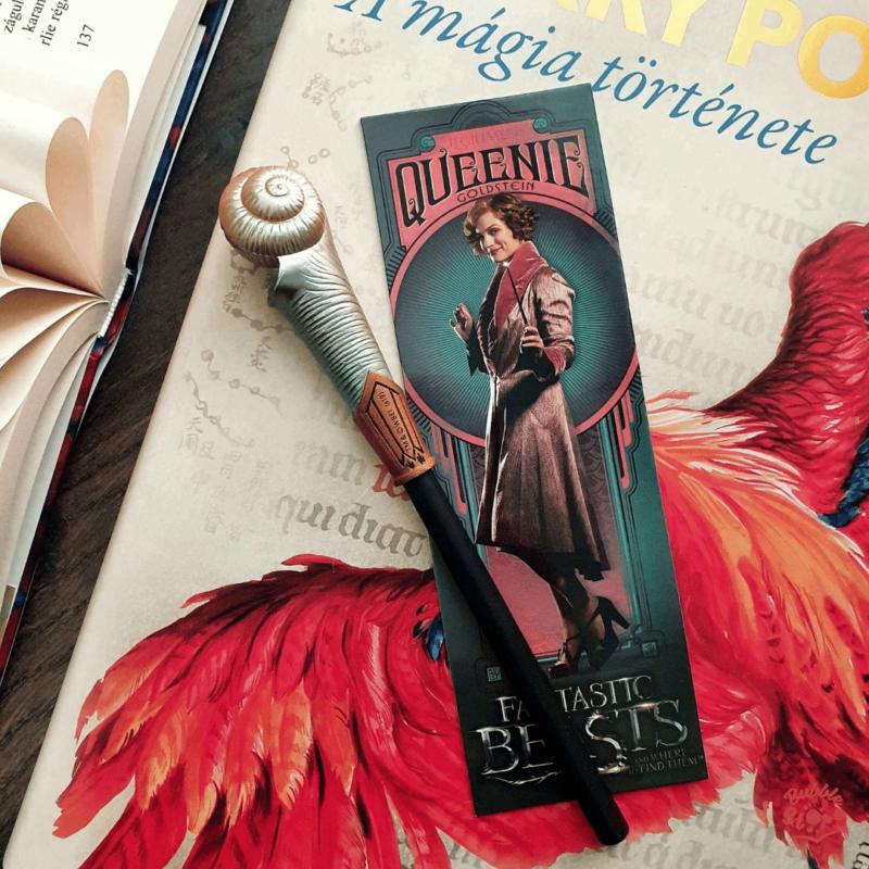 LEGENDÁS ÁLLATOK - Queenie Goldstein varázspálca toll és könyvjelző BubbleStore