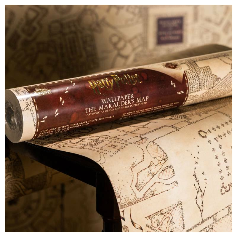 HARRY POTTER tapéta - Tekergők Térképe mintával - MinaLima design BubbleStore