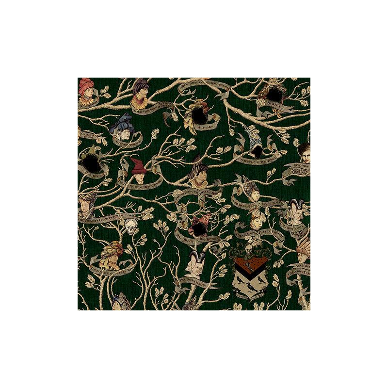 HARRY POTTER témájú tapéta - Black családfa mintával - MinaLima design BubbleStore