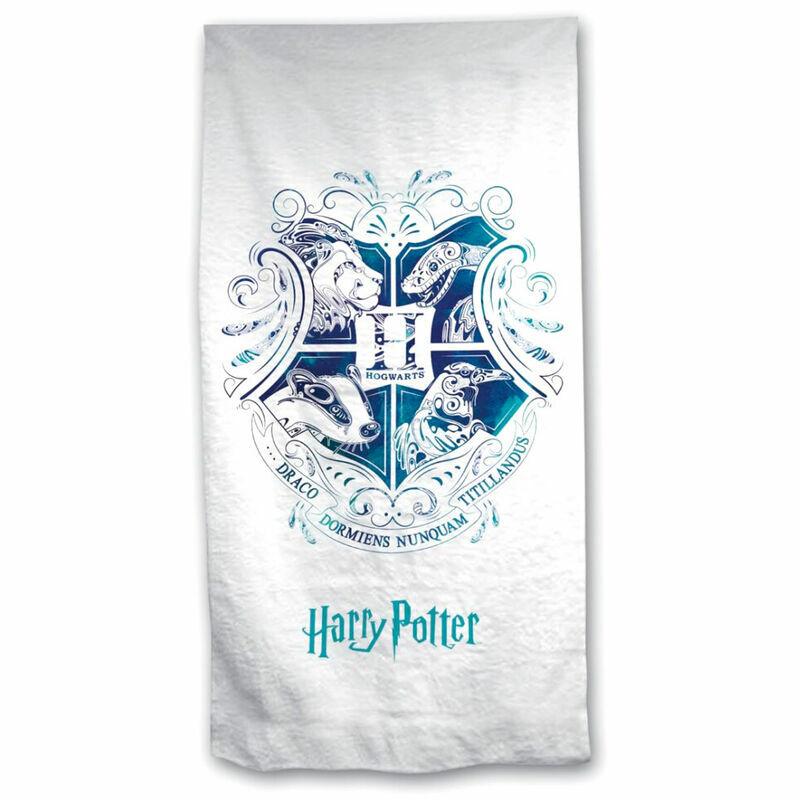 HARRY POTTER - Kék Roxfort címer strandtörölköző BubbleStore